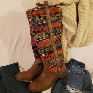 👢 Awesome Saddle Blanket Boots by Bakers 7 M